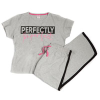 Ladies Curve Varsity Slogan Pants Set