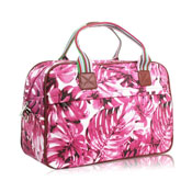Hawaiian Leaf Weekend Bag Purple