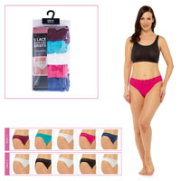 Ladies High Leg Briefs with Lace