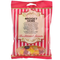 Midget Gems Traditional Sweets 150g Bag