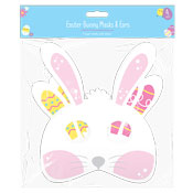 Easter Bunny Paper Mask & Ears 4 Pack