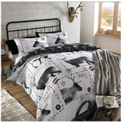 Reindeer Black/White Duvet Set