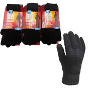 Mens Heat Control Thermal Gloves 2.3 Tog Black