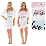 Ladies Love Birds Sleepy Tee Nightie