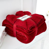 Red Flannel Sherpa Throw