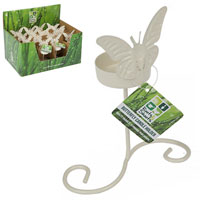 Single Butterfly Garden Candle Holder
