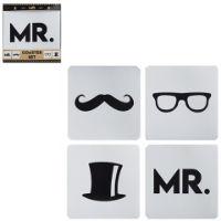 Mr Logo Printed Coaster Set