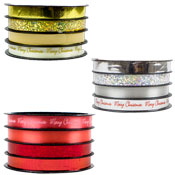 Christmas Metallic Ribbon 4 Pack