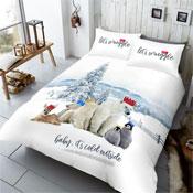 Lets Snuggle Winter Chums Christmas Duvet Set