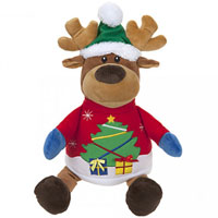18 Inch Plush Reindeer With Jumper