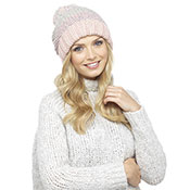 Ladies Chunky Bobble Hat With Pom Pom