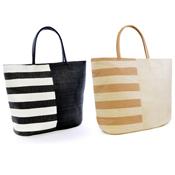 Block/Stripe Beach/Swim Bag