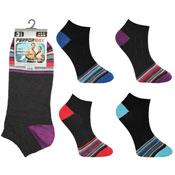 Mens Performax Trainer Socks Coloured Toe Seam