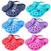 Childrens Novelty Coloured Clogs