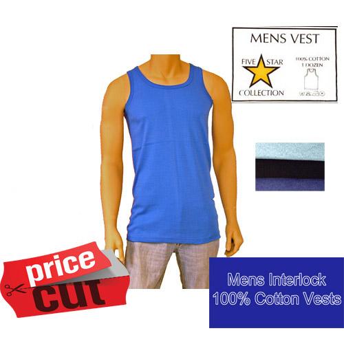 Mens Interlock Coloured Vests 5 Star