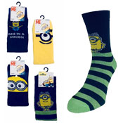 Mens Despicable Me Minions Design Character Socks