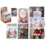 Adult Elf Christmas Cards And Envelopes 6 Pack