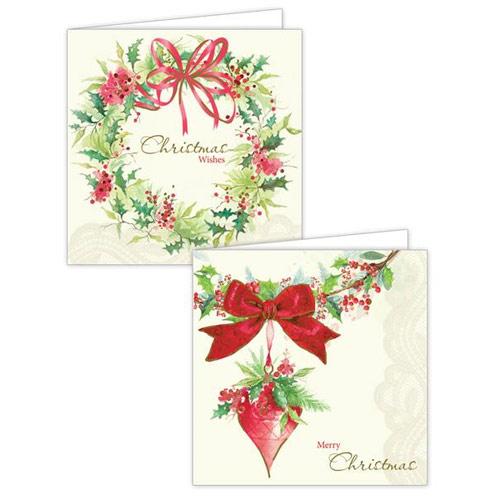 Wreath Design Christmas Cards
