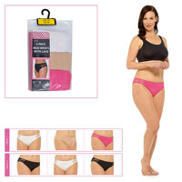 Ladies 3 Pack Briefs With Lace