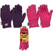 Ladies Heated Thermal Gloves With 2x Heat Pads