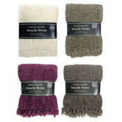 Luxury Woven Boucle Design Throws