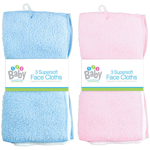 Baby Face Cloths 3 Pack