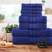 Luxurious 8 Piece Towel Bale Set Royal Blue