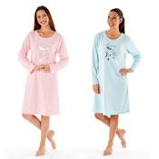 Ladies Pink & Blue Moon Nightie