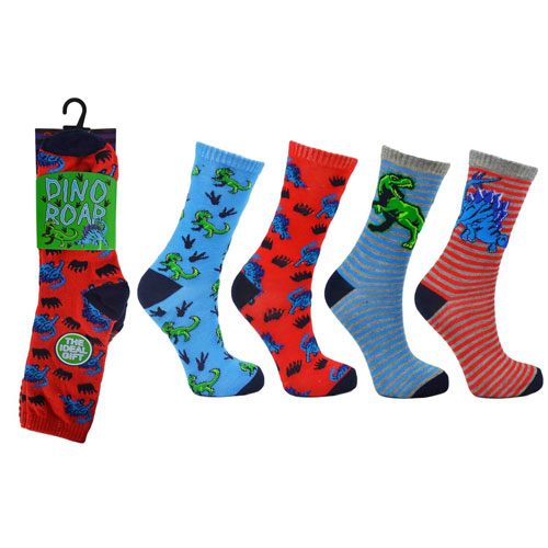 Dino Roar Childrens Novelty Socks