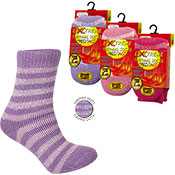 Girls Extreme Tog Thermal Socks With Grippers Stripes
