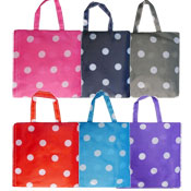 Polka Dot Design Reusable Shopping Bag Assorted