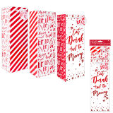 Red Foil Bottle Bags Pack Of 3