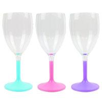 Colour Plastic Wine Goblets