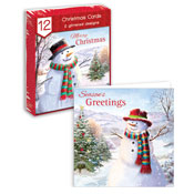 Traditional Christmas Cards Snowman