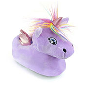 Girls Unicorn Slipper Lilac