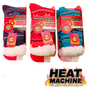 Ladies Heat Machine Fairisle Thermal Socks