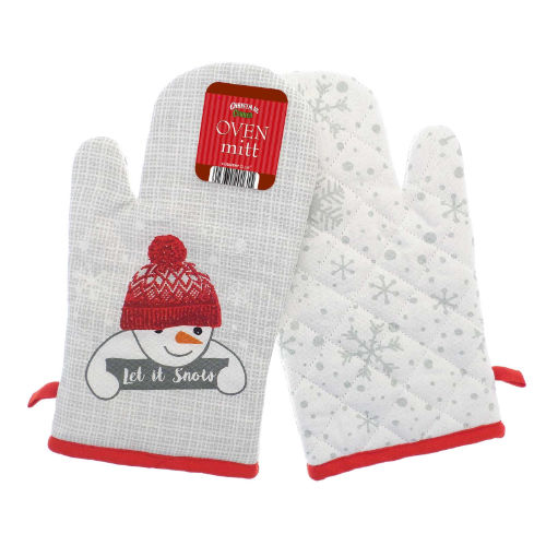 Christmas Let It Snow Single Oven Glove