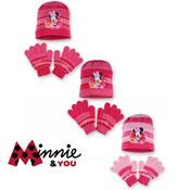 Childrens Hat & Glove Set Disney Minnie Mouse