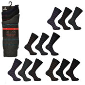 Mens Broken Stripe Design Socks Kry Collection Carton Price