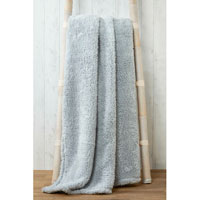 Soft and Cosy Teddy Blanket Throw Silver