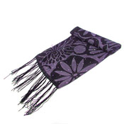 Fashion Scarf Diamante with Flower Prints