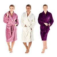 Ladies Shawl Collar Robe