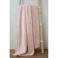 Soft and Cosy Teddy Blanket Throw Blush