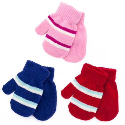 Stripe Baby Mittens 2 Pack