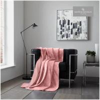 Blush Pink Flannel Sherpa Throw