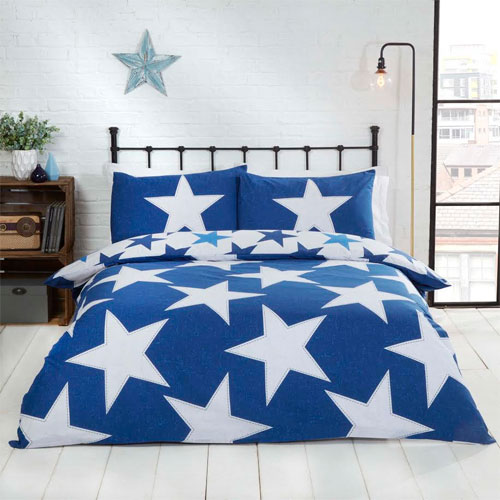 All Stars Blue Reversible Duvet Set