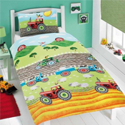 Childrens Fun Filled Bedding - Tractors