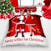 Santa Selfie For Christmas Duvet Set Red