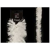 Christmas Decorative Thick & Thin Tinsel White