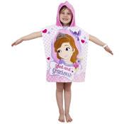 Girls Disney Sofia Amulet Towel Poncho